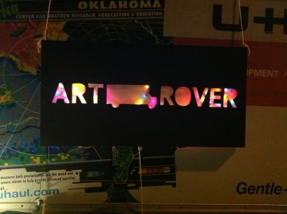 UNT's Art Rover-sign